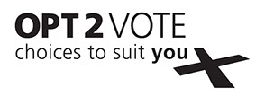OPT2VOTE logo